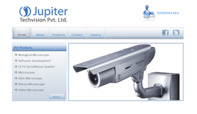 CCTV Company Website Layout Ahmedabad