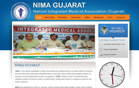Nima Gujarat,Medical Association Website Design
