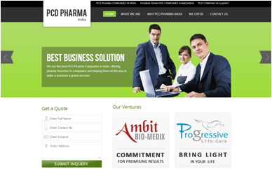 PCD Pharma Companies India Web Design