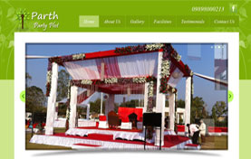 Parth Party Plot Web Design
