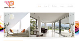 Patel Group , Interior Design Firm Web Theme
