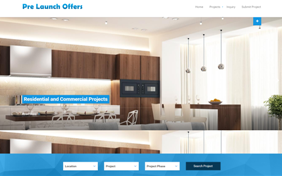 Pre-Launch Offers Realt Estate Website Layout