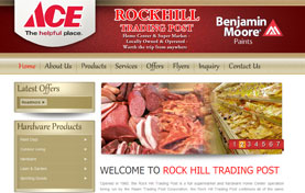 Rock Hill Trading Post Super Market Web Template