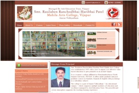 Mahila Arts College Vijapur Website Design