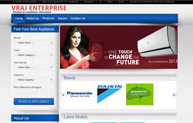 Vraj Enterprise AC Dealer Website Design